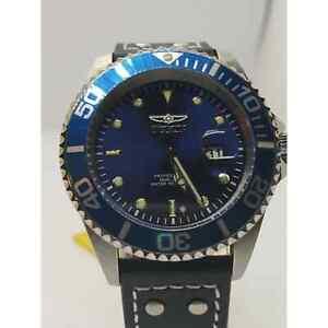 Invicta Men's Watch Pro Diver Quartz Dive Blue Dial Leather Strap 22068 395 MSRP