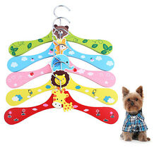 Pet Dog Child Clothes Hanger Cartoon Design Resin Animal Cute Wooden Hangers New