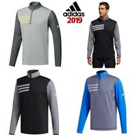 ADIDAS 2019 3-STRIPE COMPETITION MENS 1/4 ZIP GOLF PULLOVER / SWEATER