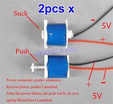 2pcs 5V 6mm Push Pull Type DC Electromagnet Magnet Solenoid Mini Electric Magnet