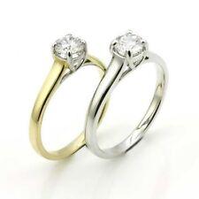 Moissanite Yellow Gold Fine Gemstone Rings