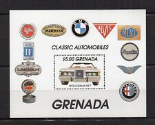 Grenada feuillet timbre neuf 1972 Classic Automobiles / FT10