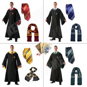 Harry Potter Kostüm Robe Schal Umhang Krawatte Gryffindor Slytherin Ravenclaw DE