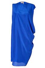 Lanvin Paris Electronic Blue Dress Fr 38 US 6 ete 2013 100% Silk Made in France