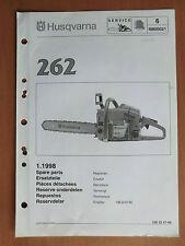 Ersatzteilliste HUSQVARNA Motorsäge Kettensäge 262 list chain saw 1998 Walbro