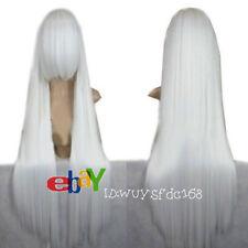 Inuyasha New Fashion Long White Straight Cosplay Wig + Free wig cap NO:228