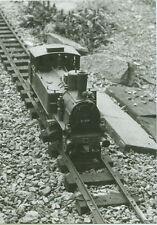 Fotografie Foto Bild Garteneisenbahn Lokomotive Lok 91 084 s/w