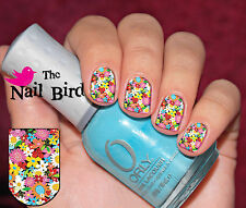 Nail Wraps Nail Decals Nail Transfers Nail Art 20 Hippy flower Chic