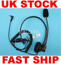 Over-Head Earpiece/Headset Mic for Topcom Radio Twintalker 3800 1302 1100 7000