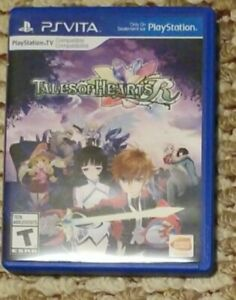 Tales of Hearts R (Sony PlayStation Vita, 2014) Game and case