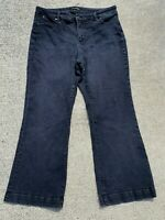 TALBOT'S Flawless Five Pocket Flare Black Jeans Size 16P Petite 16 ❤️ ts17j2