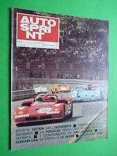 AUTOSPRINT 1971/23 Ferrari 12 V Porsche CAN-AM TECNO Boxer F1 Martini Trophy