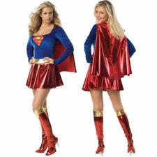 Women's Fancy Dress Superwoman Costume Party Superhero Dress S M L XL 2XL 3XL