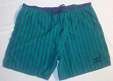 Vintage Umbro Shorts Made in U.S.A. Green/Blue stripes - XL -