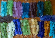 SPECIAL PRICING CLEARING! Beach Sea Glass Flat Freeform Beads 17 Color Options!