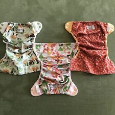 Lot of 3 Flip Cloth Diaper Covers Little House on the Prairie Prints