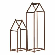 Hill Interiors Copper Finished Tall Log Holders (HI2847)