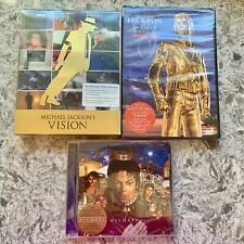 FACTORY SEALED - Michael Jackson's VISION DVD Collection, History on Film & CD