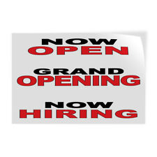 Decal Stickers Now Open Grand Opening Hiring Black Red Vinyl Store Sign Label