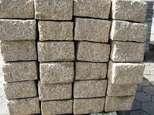 Granit Palisade Mauersteine  gelb 1Stück  50x20x10cm  gestockt rauh