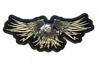 FLYING EAGLE WINGS  EMBROIDERED PATCH P0002 iron on sew biker JACKET patches NEW