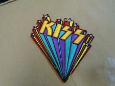 KISS Starburst Logo Gene Simmons Hard Rock IRON/SEW ON EMBROIDERED PATCH NEW