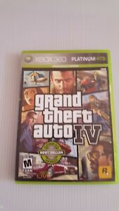 Xbox 360 Rockstar Games Grand Theft Auto IV With Case and Manual No Map