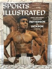 RARE FLOYD PATTERSON SIGNED AUTO 1957 SPORTS ILLUSTRATED MAGAZINE COVER HV CHAMP
