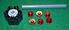 (1) BLACK Rapid Fire 6-Shot Cannon Accesories w/ Ammo Bricks ~ Lego ~ NEW ~