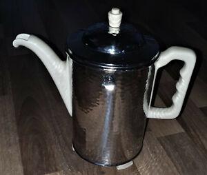 Art Déco Fürstenberg SUS Bauscher Thermisol Kaffeekanne Hammerschlag 1,2 Liter