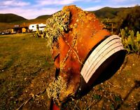 """Re-Boot"" Art Photo of a Boot on a Fence Post in CA, by Email or REAL Prints"