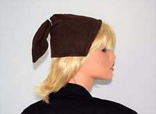 Vintage 30's 40's Brown Wool Pony Tail Fascinator Hat - Adjustable Fits Most