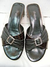 Brighton Womens Sandals Size 8.5 M April Black & Brown Leather Italy .#JS