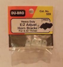 2 of Du-Bro 559 Heavy Duty E/Z Adjust Horn Bracket for 6-32 Thread NIP