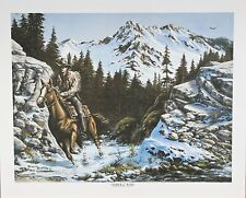 """Sierra Run"" by Newell Boatman Offset Lithograph on Paper CoA 2010 181/1250"