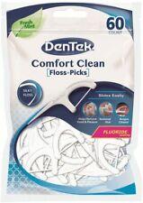 DenTek Comfort Clean Floss Picks - 60 per pack - Silky Floss - Fresh Mint