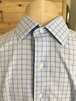 Brooks Brothers Regent Button Down Mens Dress Shirt 16 1/2-33 Blue