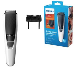 PHILIPS 3000 Stubble & Beard Trimmer Mens Cordless Shaver Rechargeable Groomer