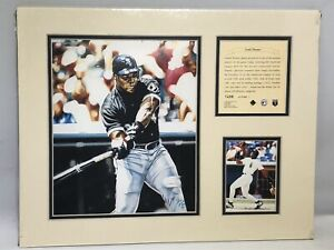 1995 Frank Thomas Chicago White Sox Matted Kelly Russell Lithograph Print #1498