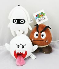 Set of 3 Super Mario Bros Goomba Ghost Blooper Plush Toys Stuffed Dolls Gift