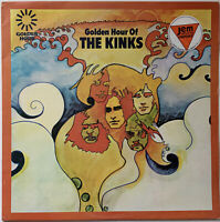 THE KINKS GOLDEN HOUR OF THE KINKS LP GOLDEN HOUR UK TRANSLUCENT RUBY RED VINYL