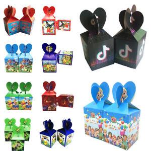 6pcs Boy Girl Children Cartoon Birthday Party Favor Candy Box Filler Supplies