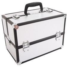 Sm-2083 Aluminum Alloy Makeup Train Case Jewelry Box Organizer Silver
