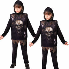 Kids Halloween Boy Tabard Hood Card Halloween Boys Childs Fancy Dress Costume
