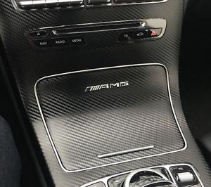 Chrome AMG Interior Dash Control Decal Badge Mercedes-Benz GLC220 GLC250 GLC43