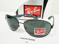 RayBan Pilot 3526 006/71 63/14 Nero Black Lente G15 occhiali sole Sunglasses