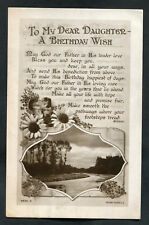 C1920s Birthday Card: River & Woods: To My Dear Daughter