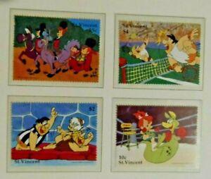 St. Vincent 1991 The Flintstones 4 stamps Sports MNH