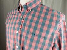 J.Crew Men's Slim Fit Long Sleeve Pink Check Button Down Shirt Size XLT Slim