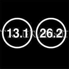 13.1 26.2 MARATHON STICKER ROUND DECAL RUNNER RUNNING WINDOW LAPTOP WALL
